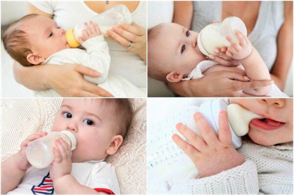 Tập cho bé bú bình